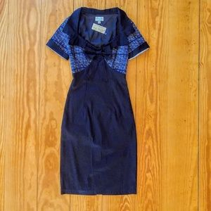 NWT Vintage Style Retro Pinup Plaid Wiggle Dress
